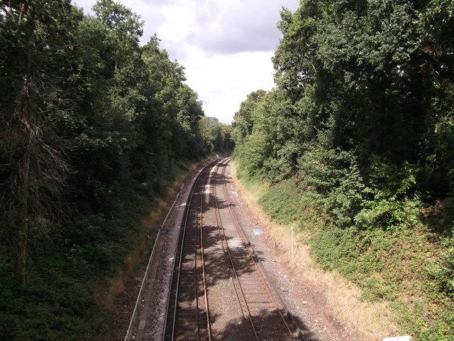 Railway line to West Wickham