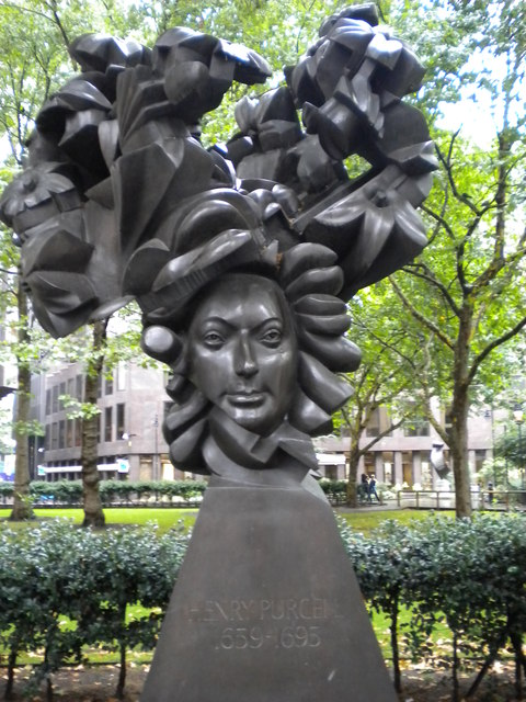 Bust of Henry Purcell, Christchurch Gardens SW1