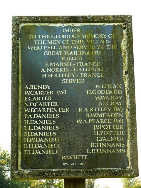 Memorial plaque near St Giles' Church, Imber