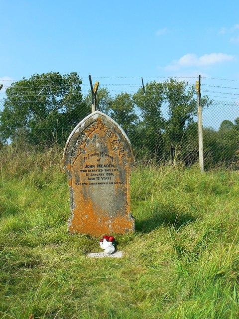 Gravestone of John Meaden, St Giles' Church, Imber