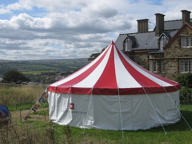 Arts and crafts tent, Whitby Abbey