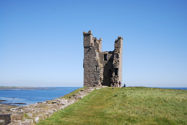 Dunstanburgh Castle, ruined tower