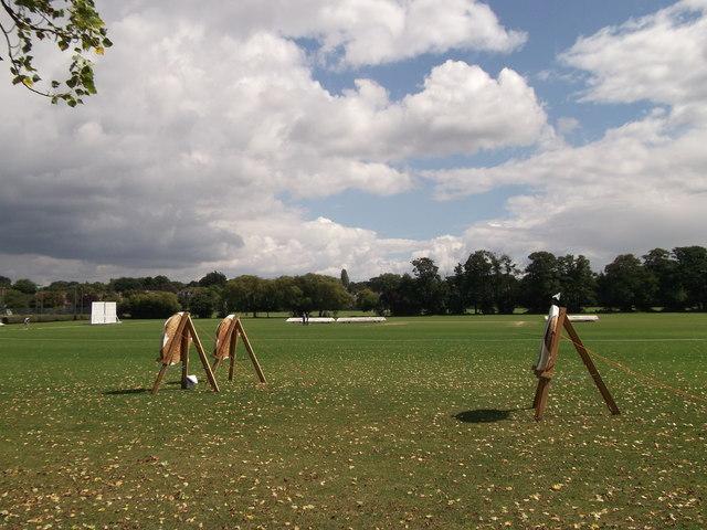 Archery Targets in Langley Park School Field