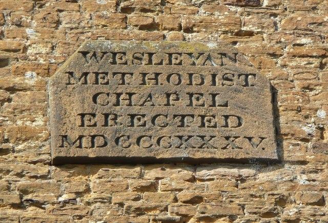 Datestone on the Village Theatre, Moulton