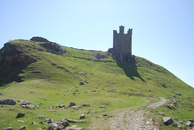 Ruined tower of Dunstanburgh Castle