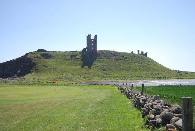 Golf course below the castle
