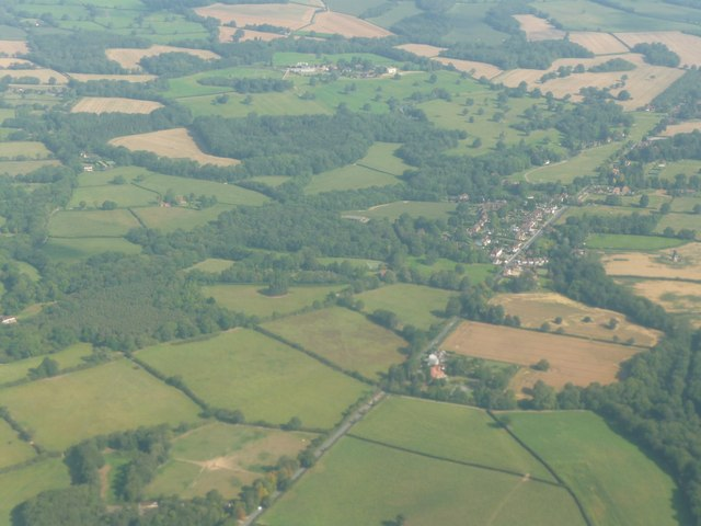 Surrey : Mole Valley - Okley from the Air