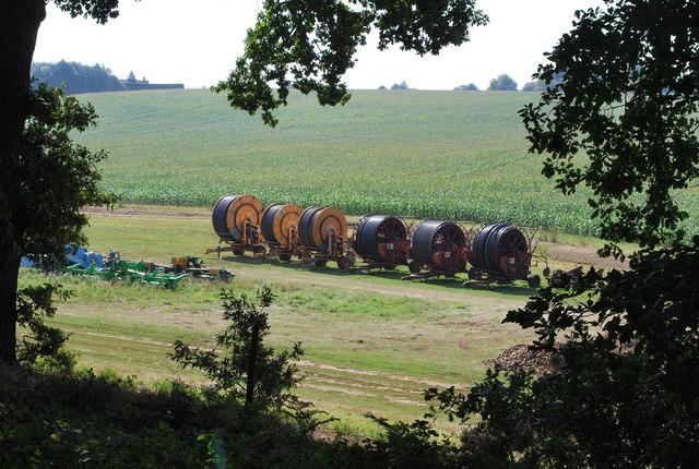 Giant hose reels Rowney Warren Farm