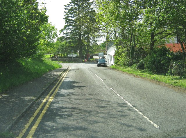 The junction with the A710 at Sandyhills