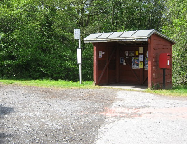 The bus stop at Sandyhills