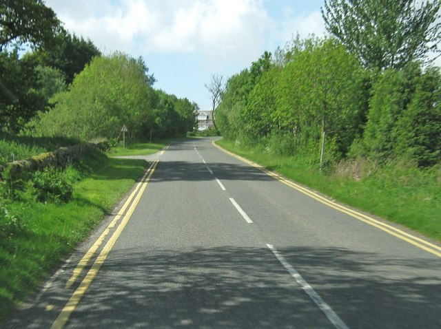 A710 approaching Colvend Golf Club