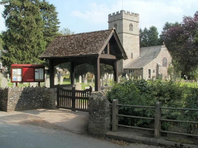 Lych gate, St Teilo's church, Llantilio Pertholey