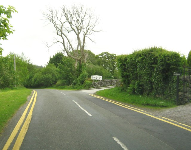 The entrance to Colvend Golf Club