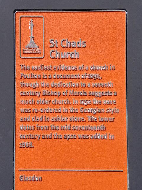St Chad's (plaque)