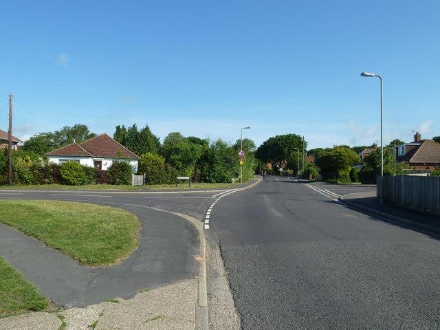 Crossroads of Fareham Park Road, Wynton Way and Atkins Place