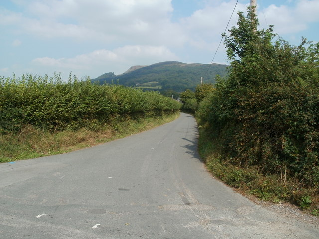 New Court Lane junction near Llantilio Pertholey