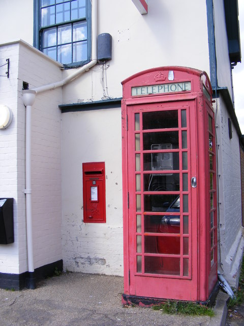 Telephone Box & Laxfield Post Office Postbox