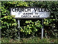 TM2972 : Church Villas sign by Adrian Cable
