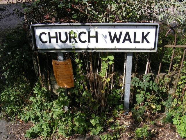 Church Walk sign