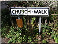 TM2972 : Church Walk sign by Adrian Cable