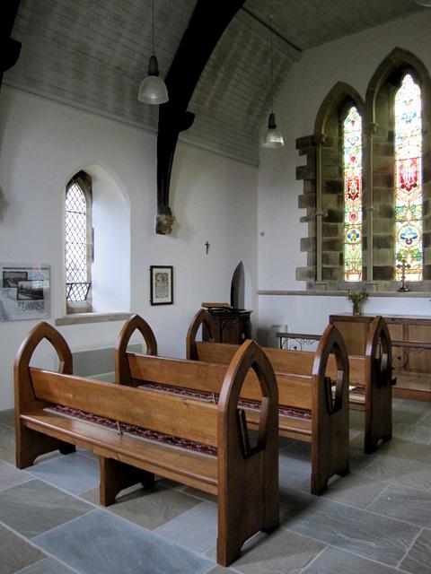 Inside St James' church, Dalehead