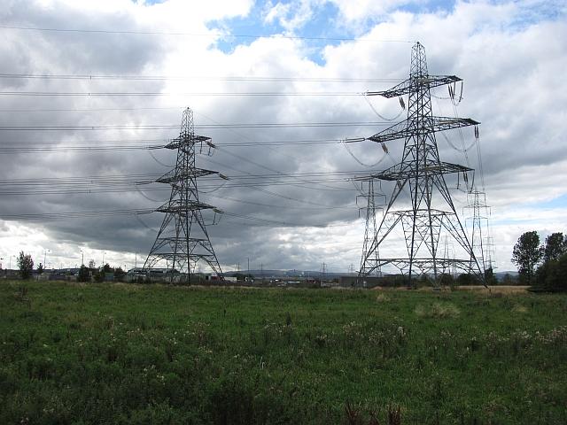 Power lines, Alloa