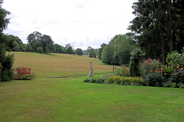 Pashley Manor Ha-ha forms southern boundary of the garden