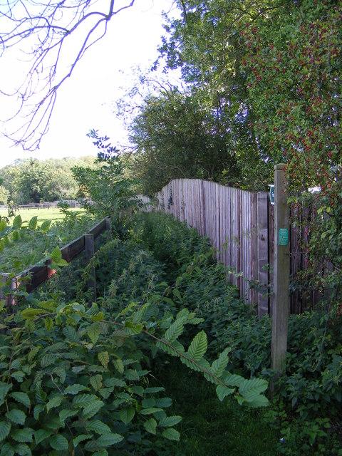 Footpath to Parham & Easton