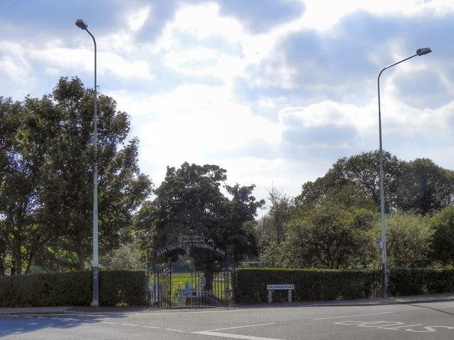 Jean Stansfield Memorial Park Gates