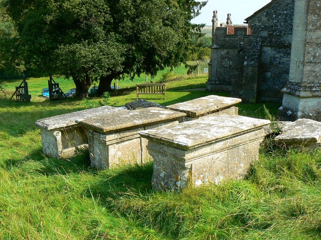Table tombs, St Giles' Church, Imber