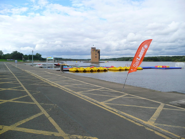 Boat launching area at Strathclyde Loch