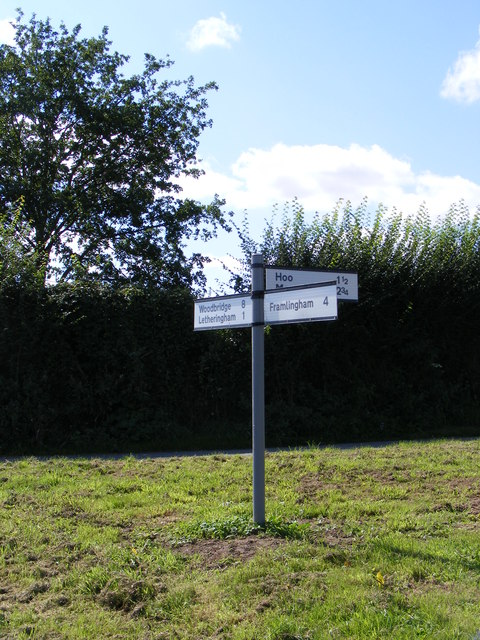 Roadsign on Hoo Road