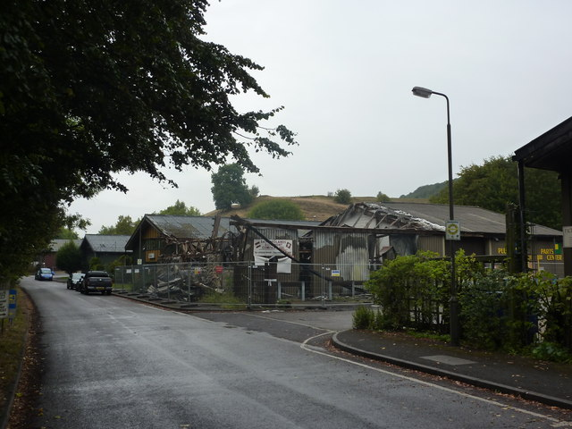 Burnt out building, Bakewell