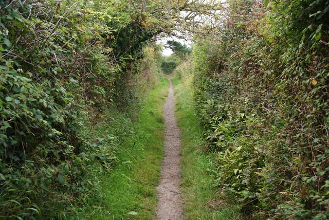 The coast path near Cotti Clyd
