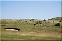NU2422 : Pillbox and bunker, Dunstanburgh Castle Golf Course by N Chadwick