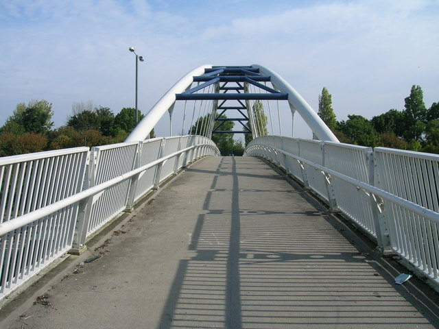 Cycle path on bridge over the A57