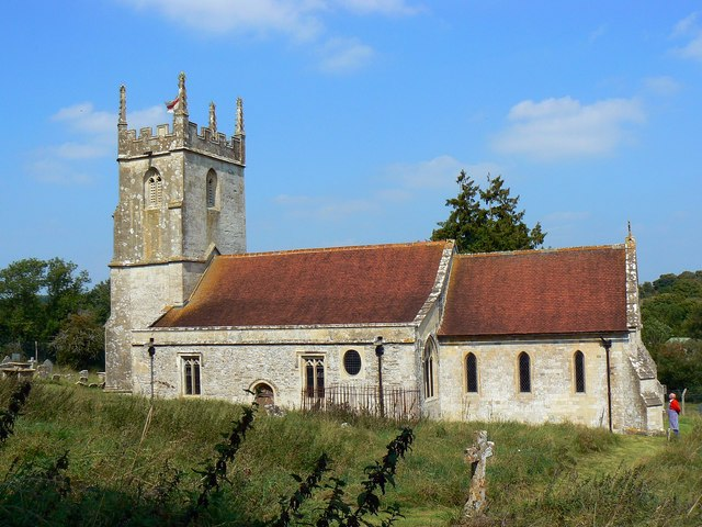 South elevation, St Giles' Church, Imber