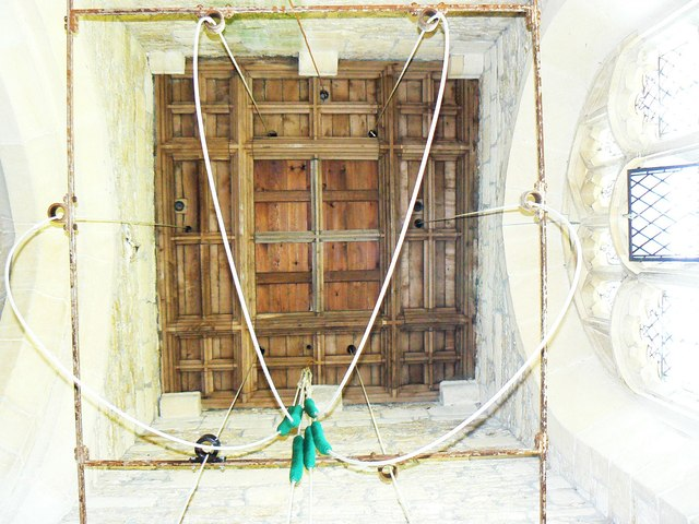Inside the bell tower, St Giles' Church, Imber