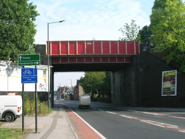 Railway bridge over Prince of Wales Road, Sheffield
