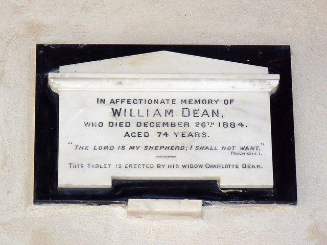 Memorial plaque, St Giles' Church, Imber