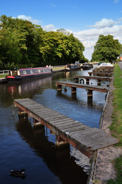 Moorings at Fradley Junction