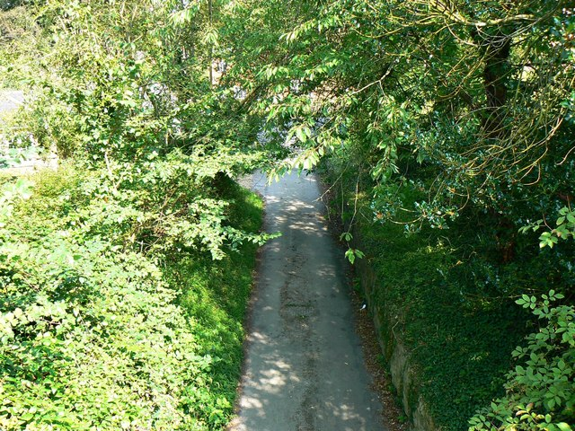 View east from the bridge over Church Lane, West Lavington