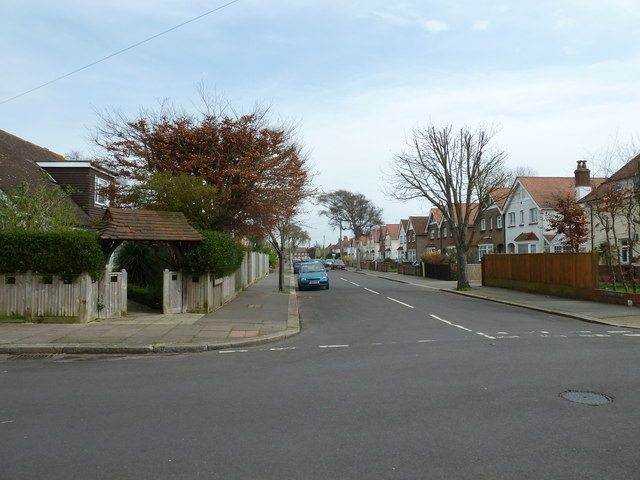 Looking from Nutbourne Road into Shermanbury Road