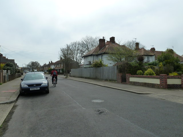 Cyclist in Nutbourne Road