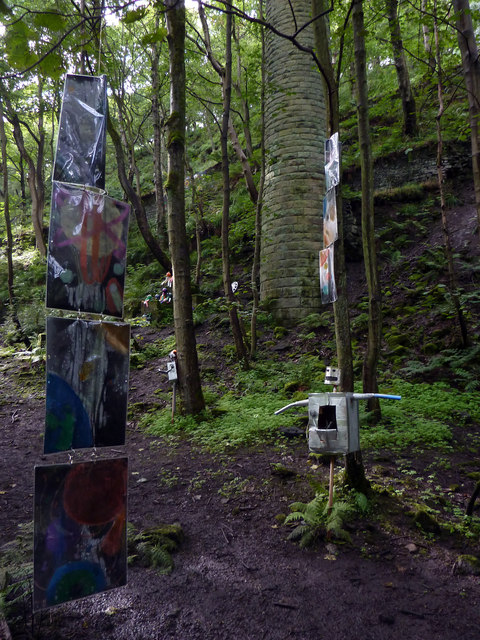 Sculpture in Colden Clough