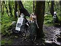 SD9728 : Wheeliebots - sculpture in Colden Clough  by Phil Champion
