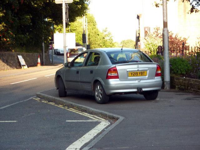 Pavement parking on King Street, Hebden Bridge