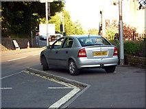 SD9827 : Pavement parking on King Street, Hebden Bridge by Phil Champion