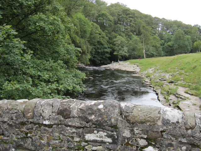 The River Ribble from Stainforth packhorse bridge