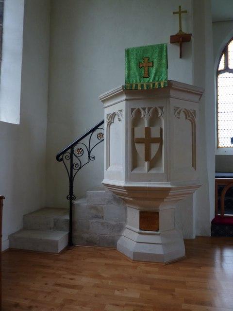 Holy Trinity Church, Feetham, Pulpit